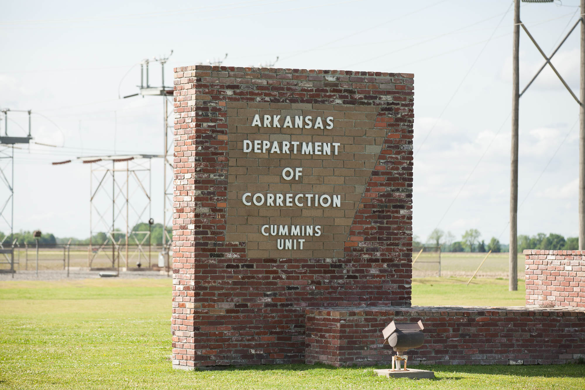 Entrance to the Cummins unit, where executions take place in Arkansas