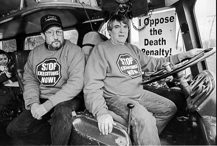 George White and Bill Pelke oppose the death penalty and executions