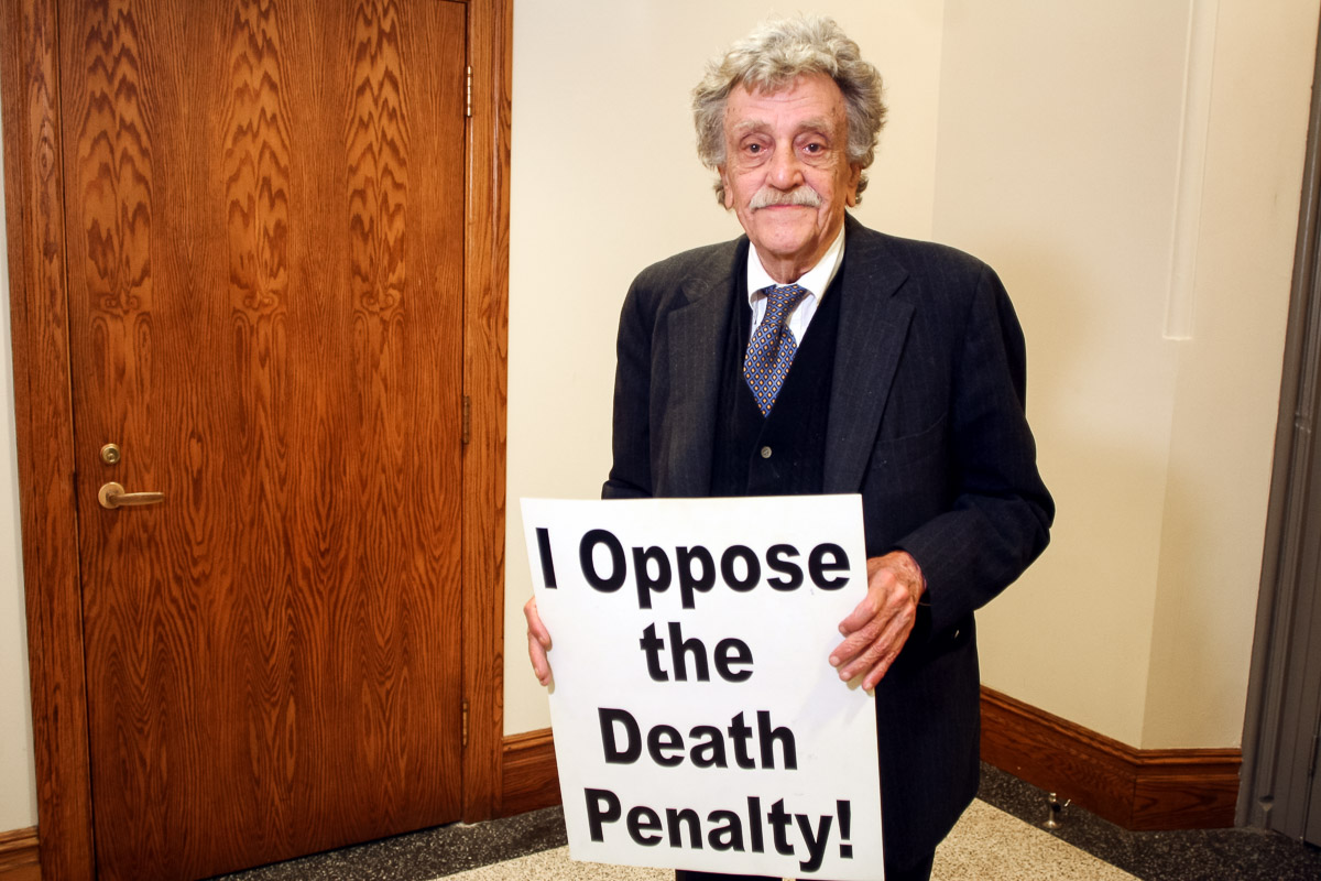 Kurt Vonnegut opposes the death penalty and executions