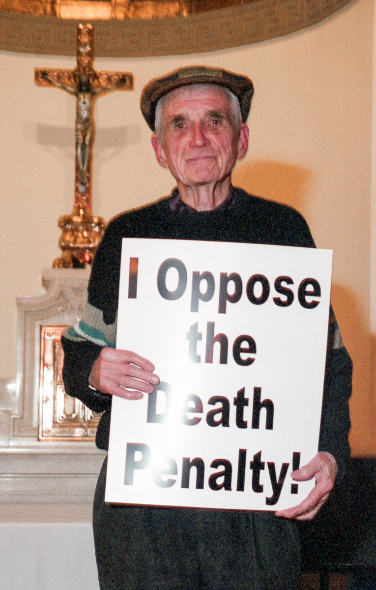 Father Dan Berrigan opposes the death penalty and executions