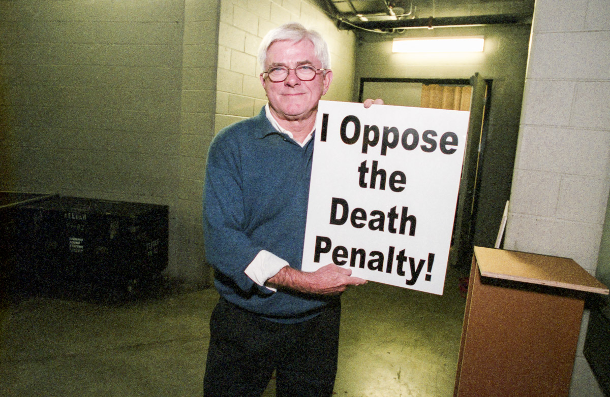 Phil Donahue opposes the death penalty and executions